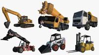 3d digger crane truck