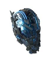 maya zbrush sci-fi head