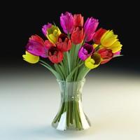 3ds tulips vase