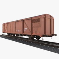 3d train boxcar