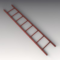 3d model red ladder