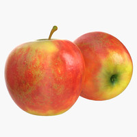 apple fruit obj