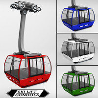 3ds max ski lift gondola cable car