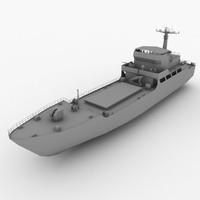 type 074-class landing ship 3d 3ds