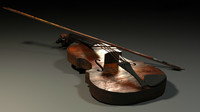 rustic violin 3ds