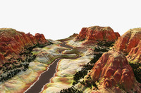 canyon valley 3d model