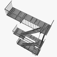3ds max escape stairs