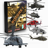 Rotors I - 8 Helicopter Collection (Maya)