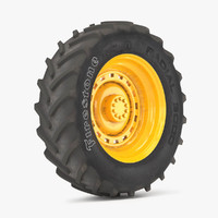 3d model tire firestone radial 3000