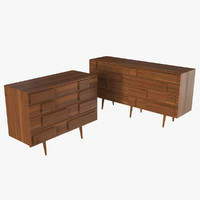 Gio Ponti Walnut Chest
