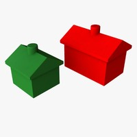 monopoly houses hotels 3d model