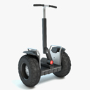 two wheel scooter 3D models