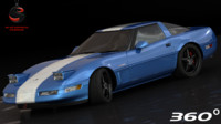 3d model of chevrolet corvette grand sport