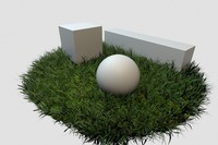 adaptive grass base 3d model