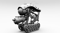 3d model of robot machine