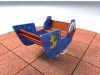 3d swing boat playground model