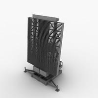 3d model aesa radar