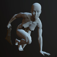 obj zbrush posed female character
