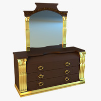 old chest drawers 3d model