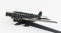 ju-52 world war 3d max