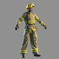 fireman man 3d max
