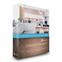3D Kitchen Appliances CGAxis Models Volume 61 C4D