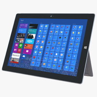 3d model microsoft surface 3 tablet