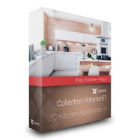 3D Kitchen Appliances CGAxis Models Volume 61 VRay