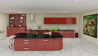 3d kitchen interior model