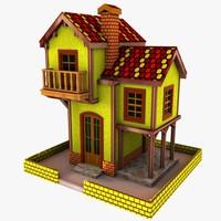 house toon 3d model