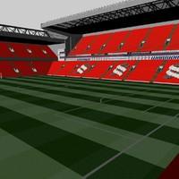 3d liverpool stadium anfield model