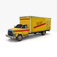 3d freightliner box truck model