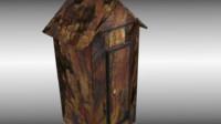 antique cabinet cupboard 3d model