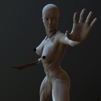 maya zbrush posed female