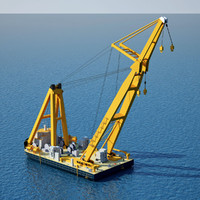 3d asian hercules floating crane
