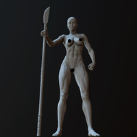 3d zbrush posed female character