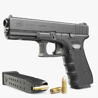 gun glock 17 3d model