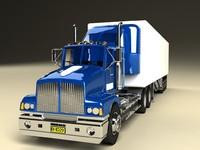 maya semi trailer truck