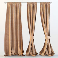 curtains rooms restaurant 3d model