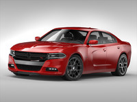 dodge charger 2015 3d max