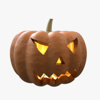 3ds max halloween pumpkin head