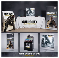 mall stand set 02 3d model