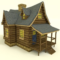 hand painted house 3d 3ds