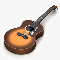 3ds max acoustic guitar