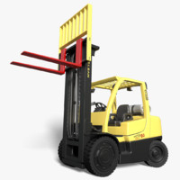 realistic rigged hyster 80 obj