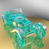 antique car ice sculpture 3d model