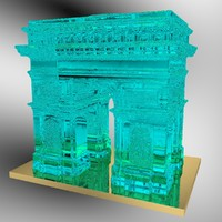 3d model of arc triomphe ice sculpture