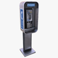 pay phone 3d model