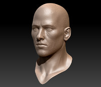 3d model soldier head face world war