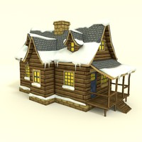winter house 3d model